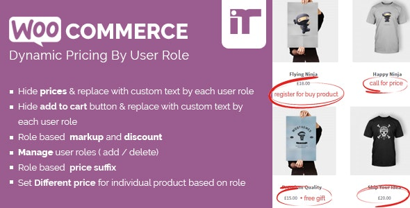 Woocommerce Dynamic Pricing By User Role 根据登录用户角色动态定价插件 – v1.4