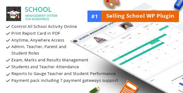 School Management System 学校管理系统WordPress插件 – v66.0