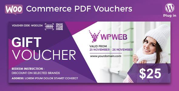 WooCommerce PDF Vouchers – 优惠券生成WordPress插件 – v4.2.0