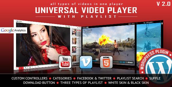Universal Video Player – WordPress视频播放器插件 – v3.3.2