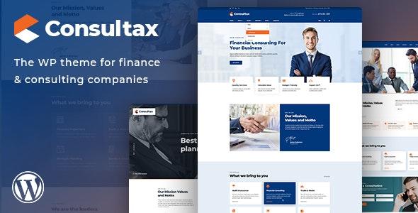 Consultax – 财务金融咨询网站WordPress主题 – v1.0.5