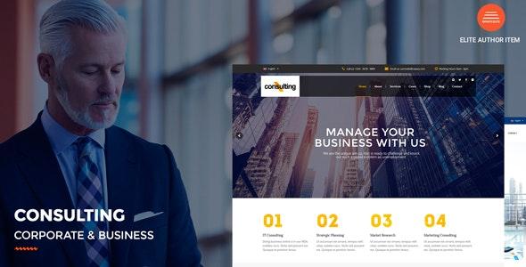 Consulting – 财务金融咨询公司WordPress主题 – v5.0.1