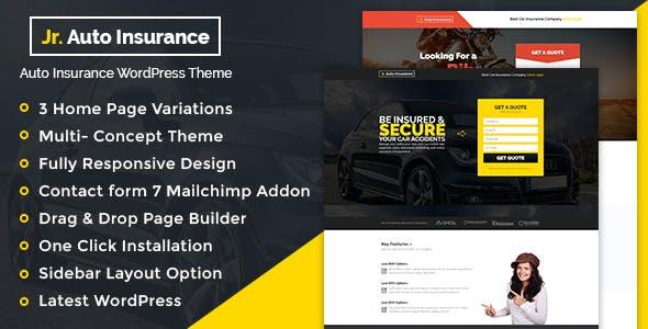 Auto Insurance – 汽车保险金融WordPress主题 – v1.0.1
