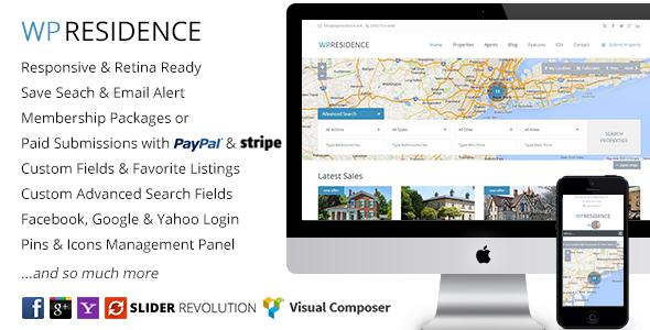 WP Residence – 房地产置业网站WordPress主题 – v3.4