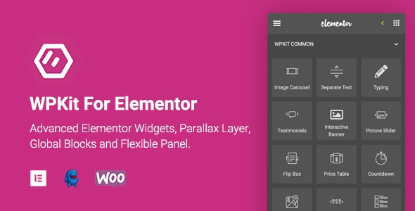 WPKit For Elementor – 高级Elementor小工具视差插件 – v1.0.5