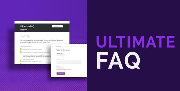 Ultimate FAQ 响应式知识库帮助问答插件 – v1.9.2
