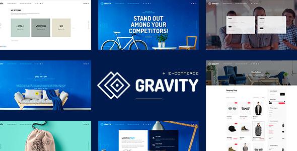 Gravity – 电子商务网站模板WordPress主题 – v1.2.4