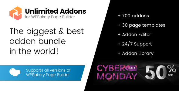 Unlimited Addons for WPBakery Page Builder 可视化编辑器扩展插件 – v1.0.41