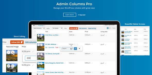 Admin Columns Pro – WordPress后台列表排序插件 – v5.3.2