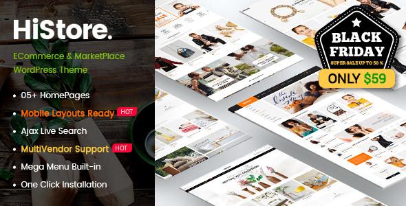 HiStore – 简约电子商务网上商店WordPress主题 – v1.0.1