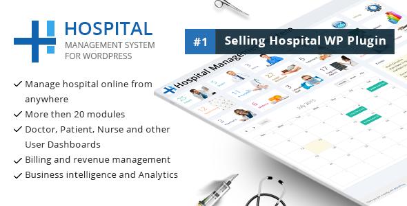 Hospital Management v22.0 医院管理WordPress插件