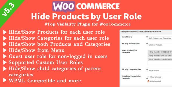WooCommerce Hide Products 产品隐藏插件 – v6.3.2