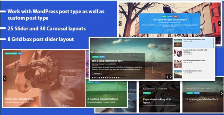 Responsive Recent Post Slider Pro 最新文章幻灯片WordPress插件 – v1.4.1