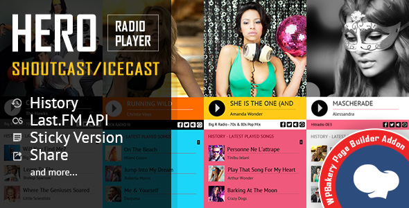 Hero – Shoutcast and Icecast Radio Player VC扩展 – v2.3