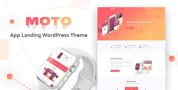 Moto – 简约着陆页模板WordPress 主题 – v1.1.6