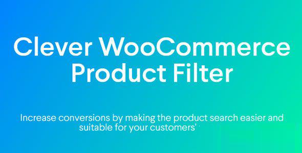 Clever WooCommerce Product Filter 简单商品筛选插件 – v1.0.0