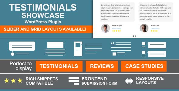 Testimonials Showcase – 客户评价好评WordPress插件 – v1.9.9.7