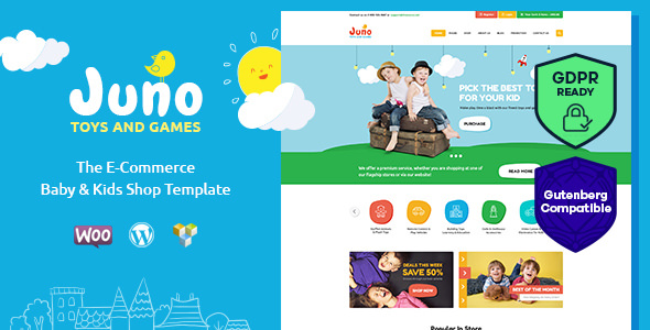 Juno – 儿童玩具商店WordPress主题 – v1.5