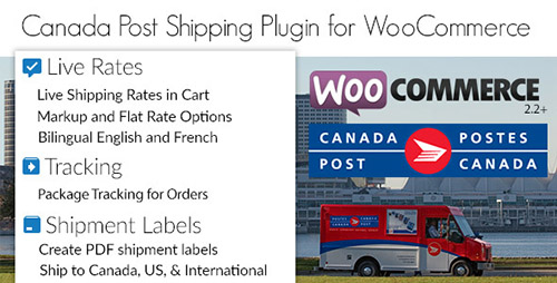 Canada Post Woocommerce Shipping Plugin 加拿大邮政包裹跟踪插件 – v1.6.11