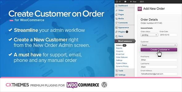 Create Customer on Order for WooCommerce 订单创建用户插件 – v1.36
