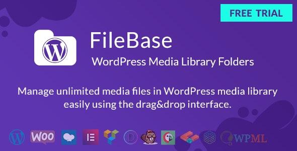 FileBase – 媒体库文件夹管理WordPress插件 – v1.3.9