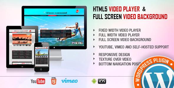 Video Player & FullScreen Video Background 全屏视频背景WordPress插件 – v1.9.3