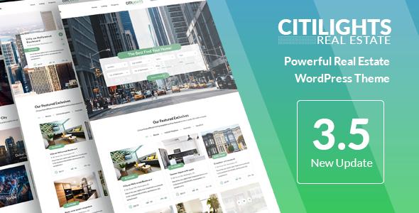 CitiLights – 房产中介租赁网站模板WordPress主题 – v3.5.8