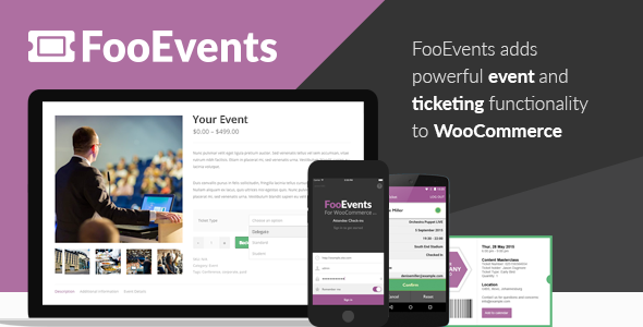 FooEvents for WooCommerce 活动票务筹款插件 – v1.11.53