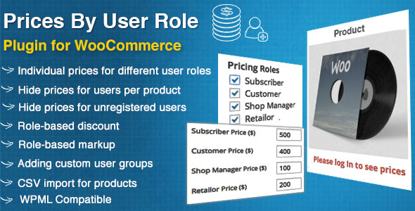 WooCommerce Prices By User Role 根据用户角色定价插件 – v5.0.1