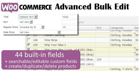 WooCommerce Advanced Bulk Edit 商品批量编辑插件 – v4.6