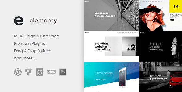 Elementy – 多用途单页多页网站WordPress主题 – v1.0.6