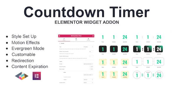 Countdown Timer Elementor Page Builder Addon 倒计时编辑器插件