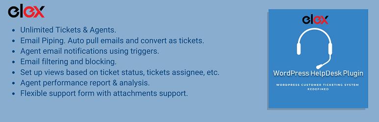 【汉化插件】WordPress 免费客户工单系统插件 WSDesk elex-helpdesk-customer-support-ticket-system.2.0.0-WordPress汉化资源