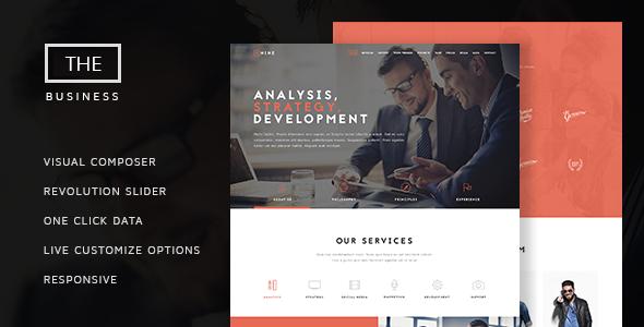 The Business – 多用途单页网站模板WordPress主题