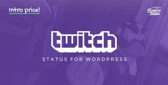 Twitch Status WordPress 切换插件 – v1.3