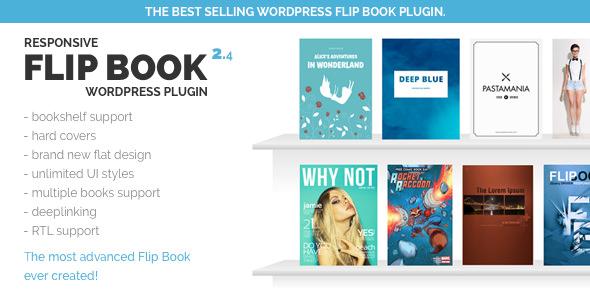 Responsive FlipBook 响应式图书翻页WordPress插件 – v2.4.5