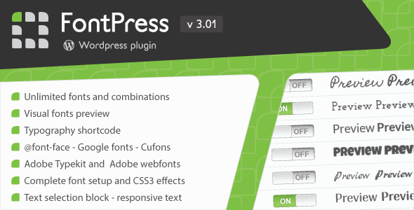 FontPress – WordPress 字体管理插件 – v3.1