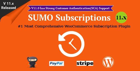 SUMO Subscriptions – WooCommerce订阅系统插件 – v12.0