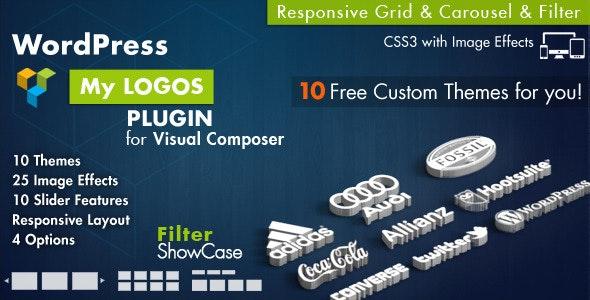 Logos Showcase for Visual Composer WordPress – LOGO合作伙伴图标轮播插件 – v2.8