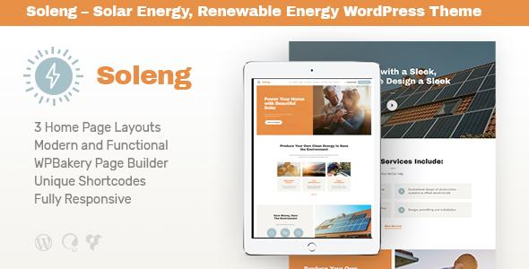 Soleng – 太阳能绿色能源企业WordPress模板 – v1.0.6