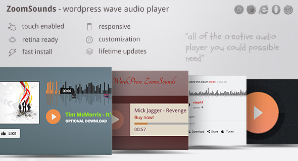 ZoomSounds – WordPress 音频播放器插件 – v5.93