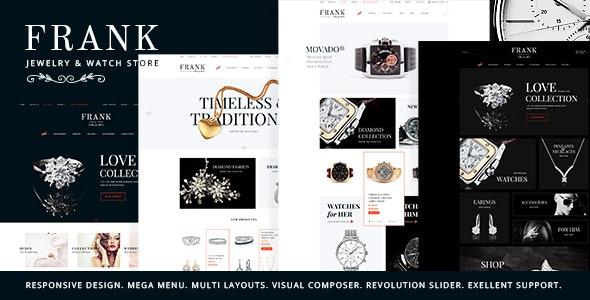 Frank – 珠宝手表线商店WordPress主题 – v1.5.1