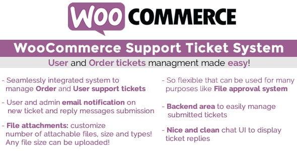 WooCommerce Support Ticket System 支持帮助工单插件 – v1.2.9