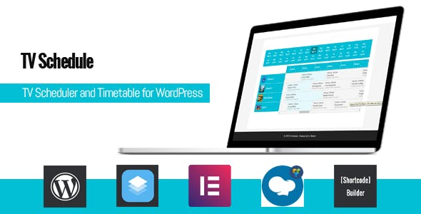 TV Schedule and Timetable for WordPress 电视节目表时间表插件 – v1.1.2