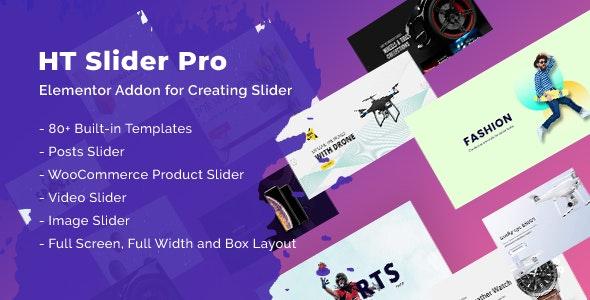 HT Slider Pro For Elementor 可视化幻灯片插件 – v1.0.3
