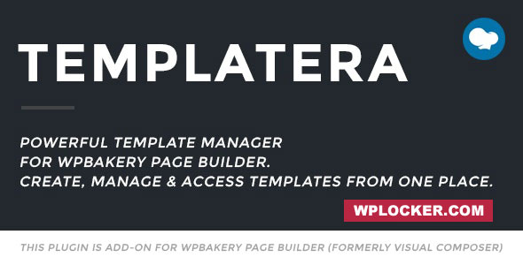 Templatera – WPBakery Page Builder 可视化模板管理插件 – v2.0.4