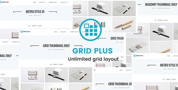 Grid Plus – 无限网格布局WordPress插件 – v2.9