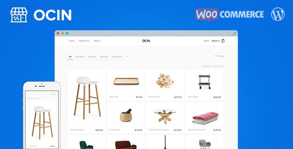Ocin – 响应式在线电商网站WooCommerce主题 – v1.4.13