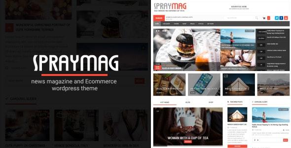 Spraymag – 新闻博客网站模板WordPress主题 – v4.0