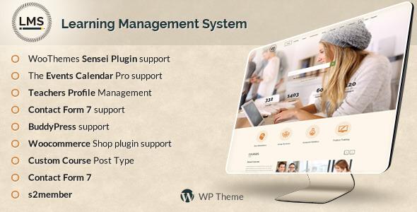 LMS 培训教育学习管理系统WordPress主题 – v7.2